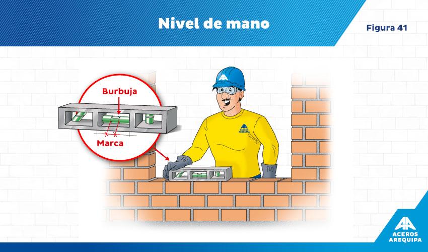 constructor nivelando muro