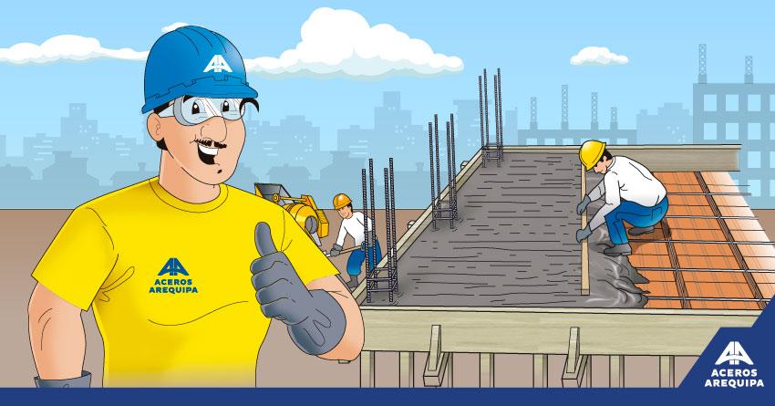 concreto en el techo