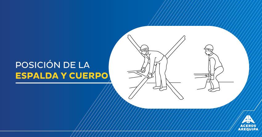 posicion de la espalda y cuerpo