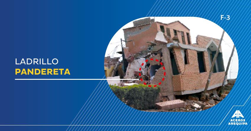 ladrillo pandereta casa dañada