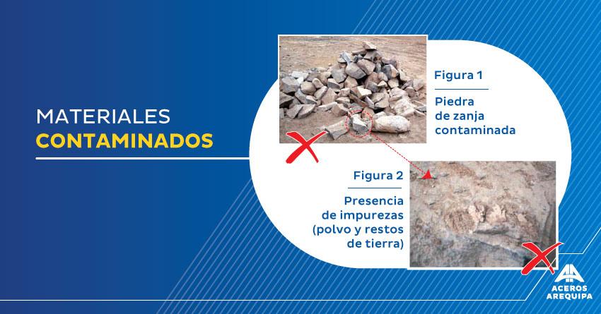 materiales contaminados