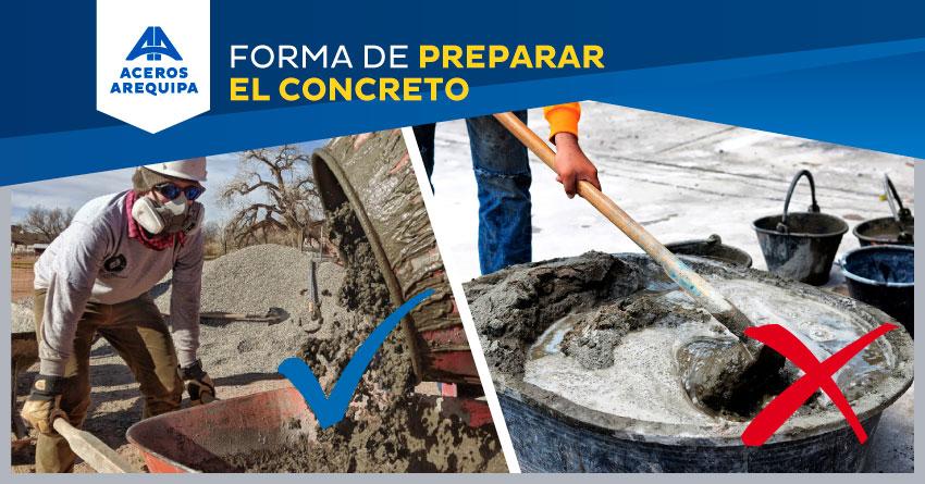preparacion del concreto