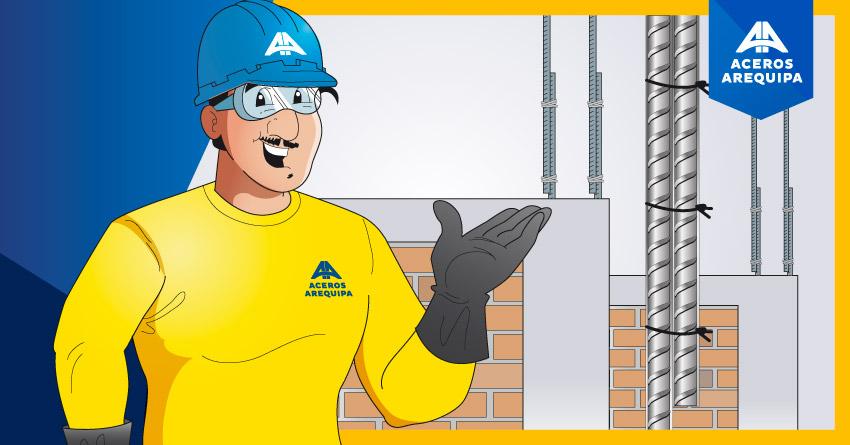 Pasos para empalmar los fierros de construcción