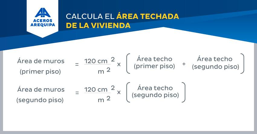 calcular el area techada