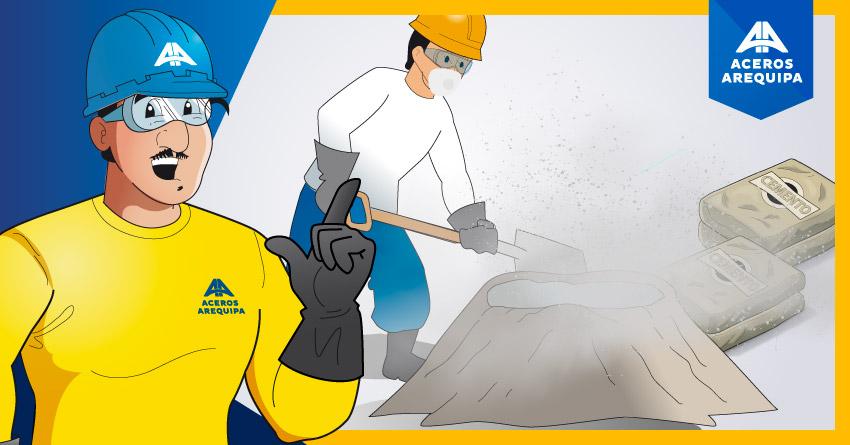Cuidado al manipular los aditivos para el concreto